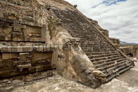 Heykel dekore edilmiş piramit eski şehir taş Stok fotoğraf © Quasarphoto