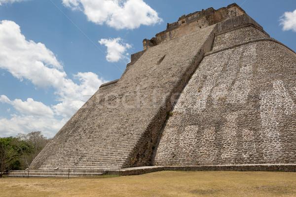 Steil trap tempel steen leidend top Stockfoto © Quasarphoto