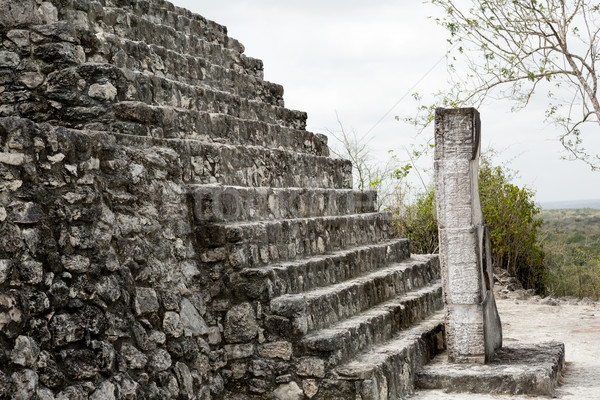 Stockfoto: Gebouw · details · trap · reizen · standbeeld · geschiedenis