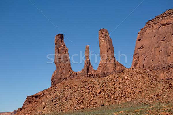 Tre sorelle valle tribù parco deserto Foto d'archivio © Quasarphoto
