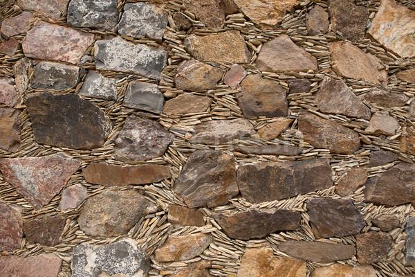 Bağbozumu duvarcılık çevirmek İspanyolca duvar inşaat Stok fotoğraf © Quasarphoto