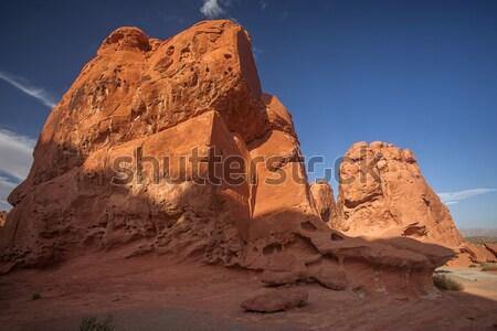 Küp vadi ücretsiz ayakta kırmızı kaya Stok fotoğraf © Quasarphoto