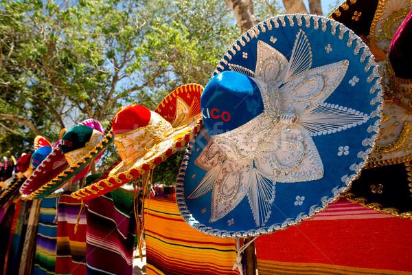 colorful sombreros and ponchos Stock photo © Quasarphoto