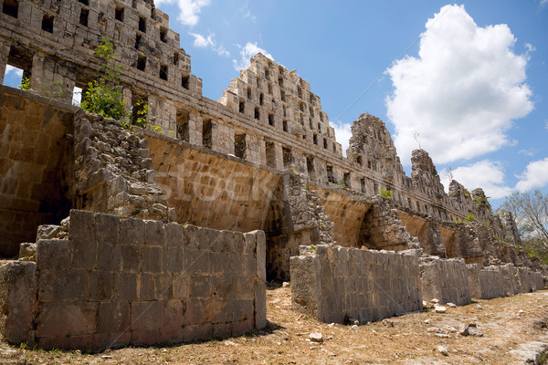 ancient Mayan temple ruins Stock photo © Quasarphoto