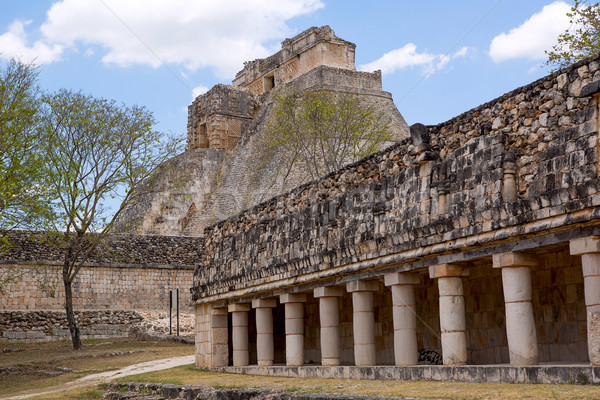 sacred Mayan temples Stock photo © Quasarphoto