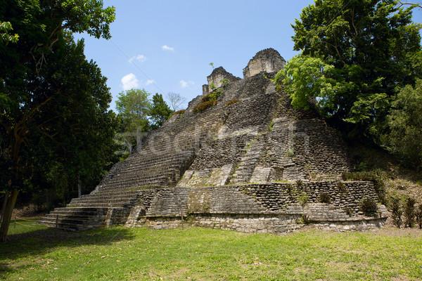 Piramit orman eski harabe seyahat tatil Stok fotoğraf © Quasarphoto