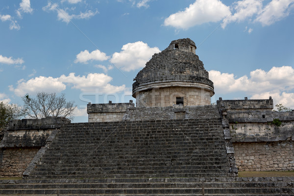 the observatory in Chichen Itza Stock photo © Quasarphoto