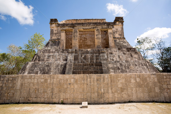 Mayan pyramid ruin in Chichen Itza Stock photo © Quasarphoto