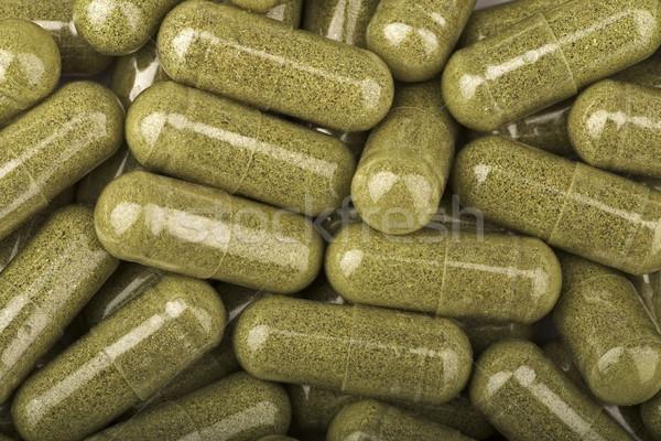 Tıp yeşil renk ağrı hap Stok fotoğraf © Quasarphoto