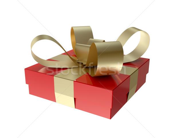 Geschenkdoos Rood klein witte gelukkig verjaardag Stockfoto © Quka