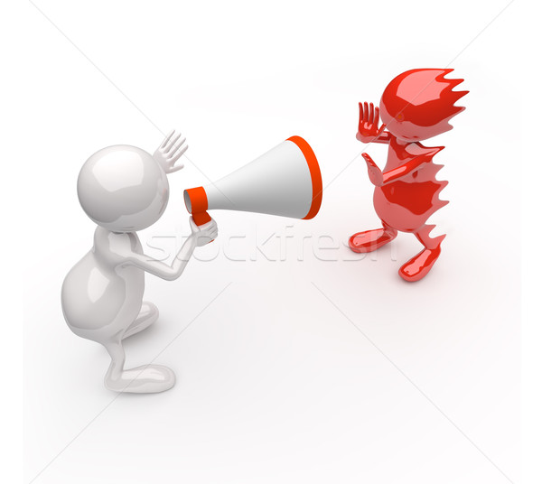 3D People Yelling in a Megaphone Stock photo © Quka