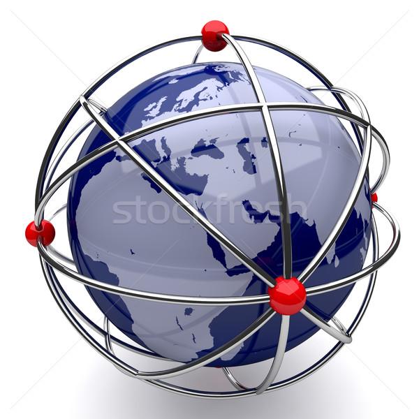 地球 原子 ケージ 白 テクスチャ 光 ストックフォト © Quka