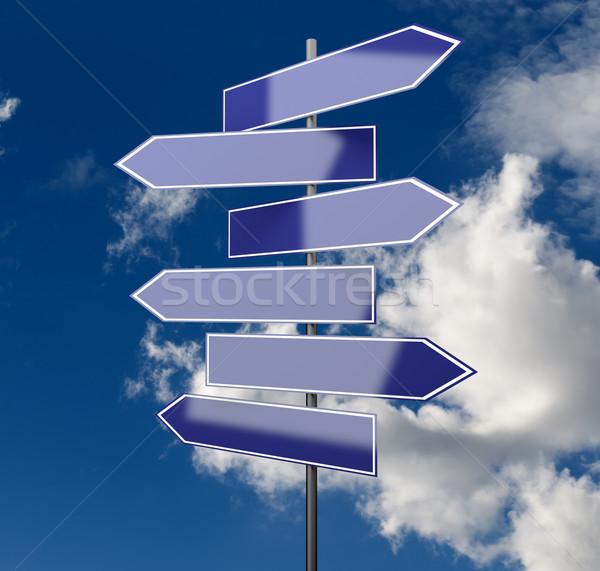 道路標識 青空 コピースペース 雲 にログイン スペース ストックフォト © Quka