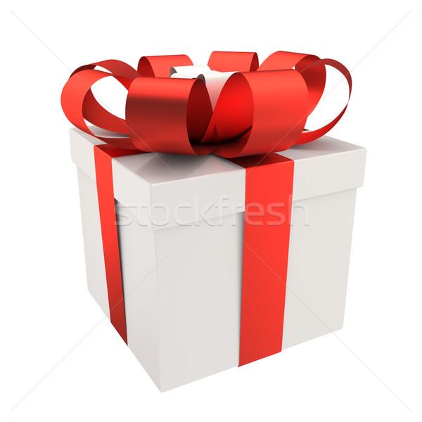 Caixa de presente branco amor feliz aniversário Foto stock © Quka