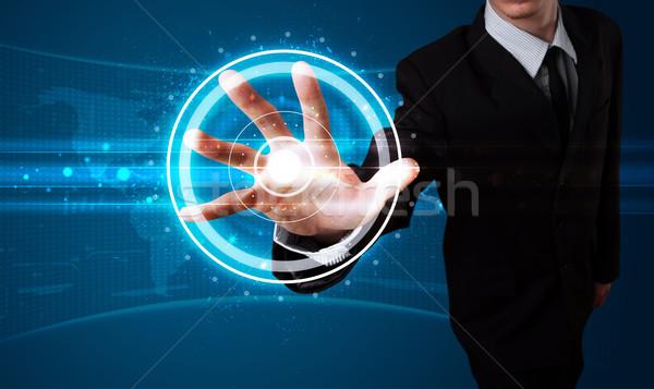 Biznesmen wysoki tech typu nowoczesne Zdjęcia stock © ra2studio