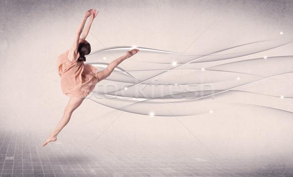 Ballerino di danza classica moderno dance abstract linee Foto d'archivio © ra2studio