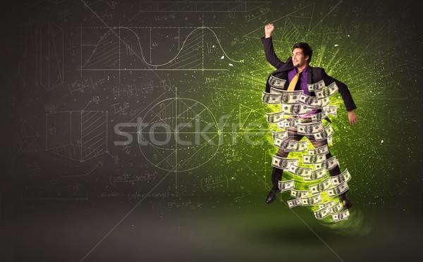 Wesoły skoki Dolar około ceny Zdjęcia stock © ra2studio