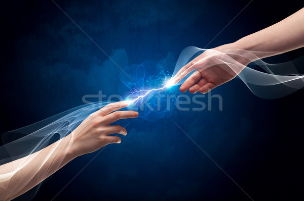 Mãos dedos espaço dois masculino Foto stock © ra2studio