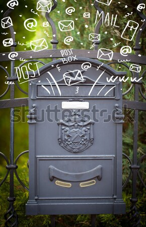 Post cuadro colorido cartas resumen papel Foto stock © ra2studio