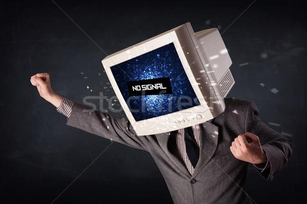 человека контроля голову нет сигнала знак Сток-фото © ra2studio