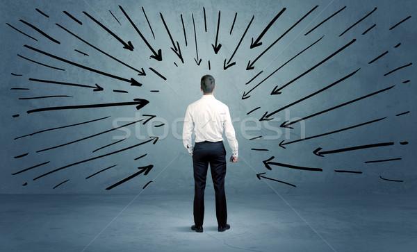 ストックフォト: 立って · ビジネス · 男性 · 混乱 · ビジネスマン