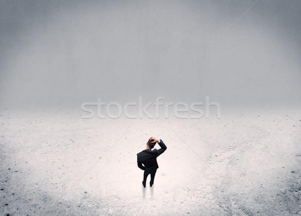 Empresário em pé urbano adulto elegante Foto stock © ra2studio