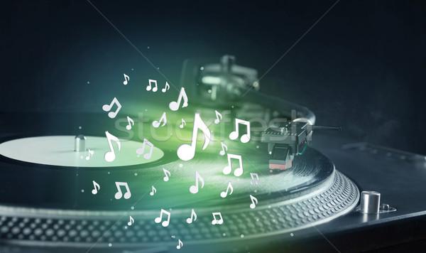 Giradischi giocare musica audio note Foto d'archivio © ra2studio