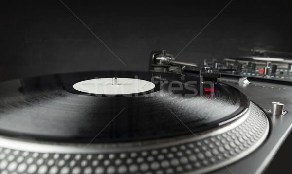 ターン 演奏 ビニール 針 レコード ストックフォト © ra2studio