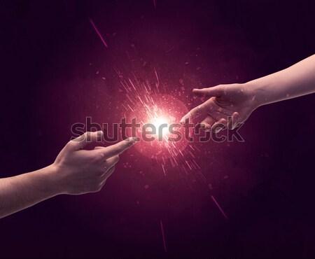 Stockfoto: Armen · zon · twee · naakt · mannelijke · handen