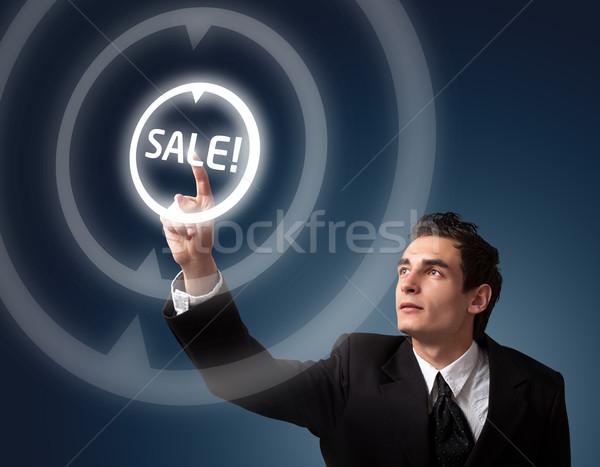 человека кнопки деловой человек продажи Сток-фото © ra2studio