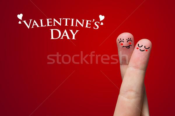 Finger Hug on Valentine's day theme Stock photo © ra2studio