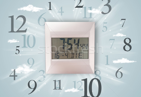 Modern clock with numbers on the side Stock photo © ra2studio