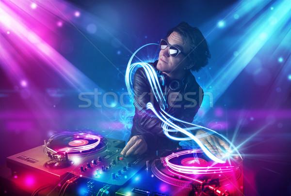 энергичный музыку мощный световыми эффектами молодые вечеринка Сток-фото © ra2studio