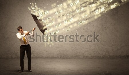 Stock photo: Fashion model shouting colorful splash