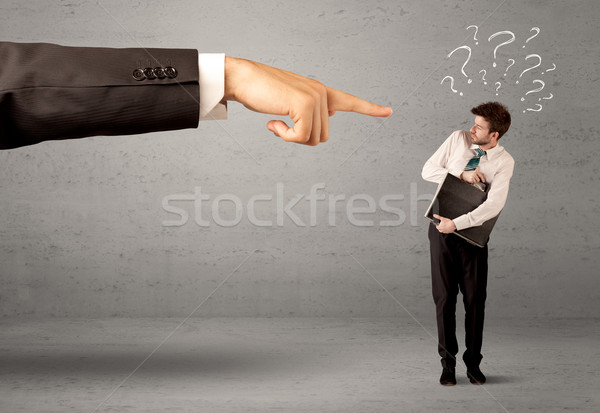Stock photo: Confused employee getting order from boss