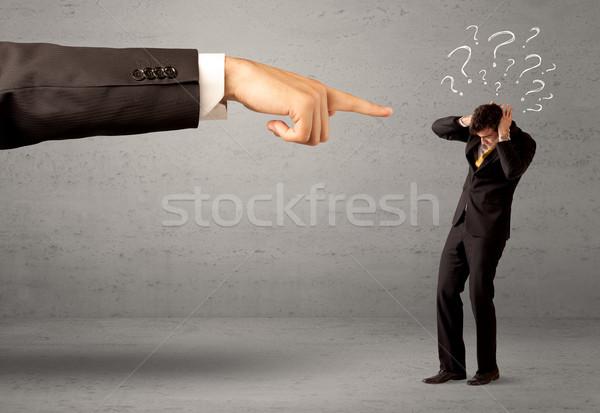 Mylić pracownika celu szef młodych amator Zdjęcia stock © ra2studio