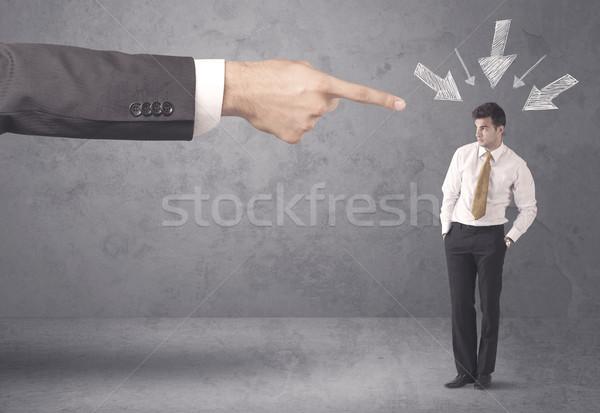Amador empresário pressão escritório patrão jovem Foto stock © ra2studio