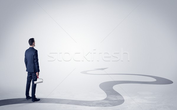 Man on the direction of success Stock photo © ra2studio