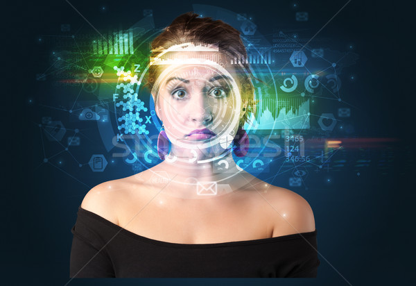 Biometric identification and Facial recognition Stock photo © ra2studio