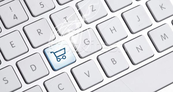 клавиатура купить вариант белый бизнеса компьютер Сток-фото © ra2studio