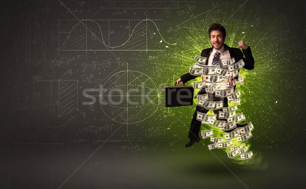 прыжки доллара вокруг бизнеса Сток-фото © ra2studio