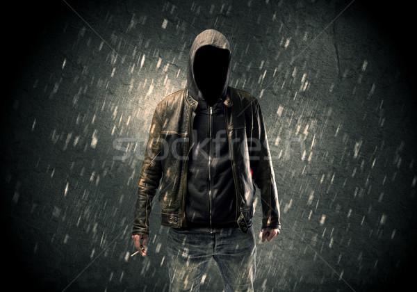 Сток-фото: неизвестный · Постоянный · темно · человека · видимый