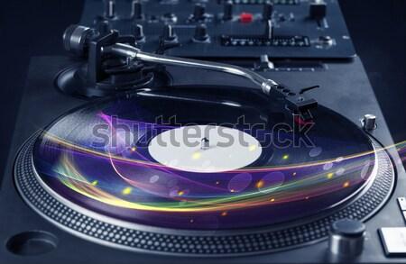 Reproductor de música jugando vinilo música colorido resumen Foto stock © ra2studio
