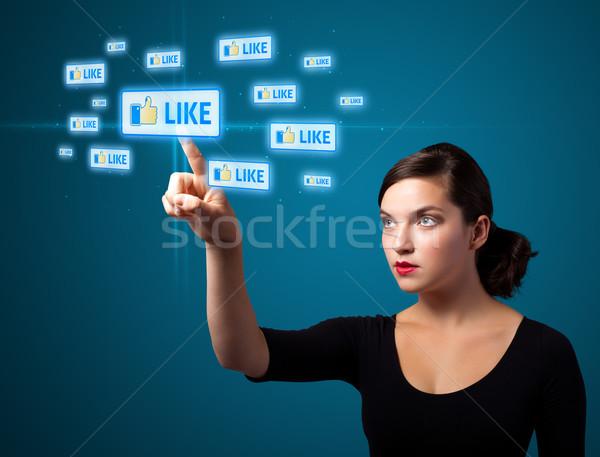 女性実業家 現代 社会 タイプ アイコン ストックフォト © ra2studio