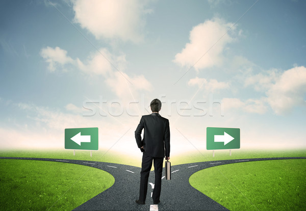 ビジネスマン 選択 重要 選択肢 道路 男 ストックフォト © ra2studio