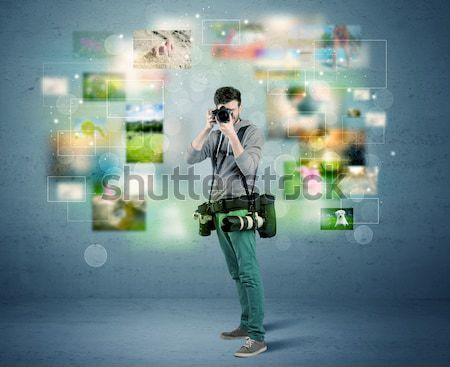 фотограф фотографий прошлое молодые любительский профессиональных Сток-фото © ra2studio
