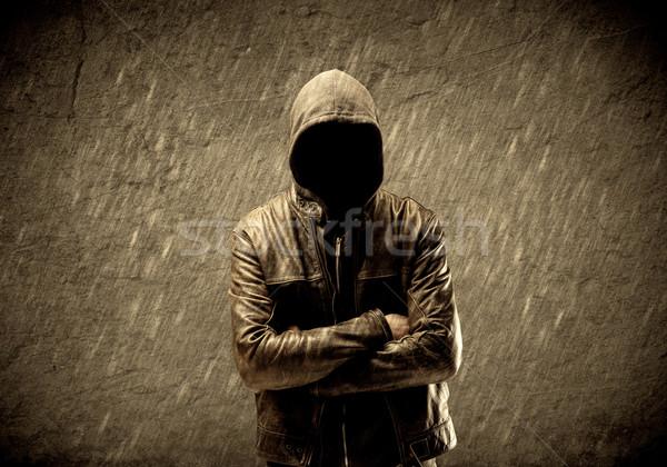 Inconnu urbaine hooligan étrange suspectes Photo stock © ra2studio