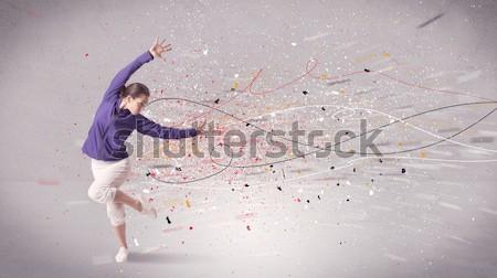 Urbanas baile líneas salpicaduras jóvenes contemporáneo Foto stock © ra2studio