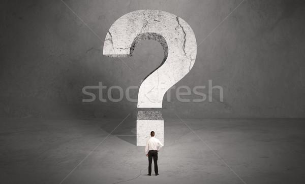 Photo stock: Confondre · affaires · grand · interrogation · faible · élégante