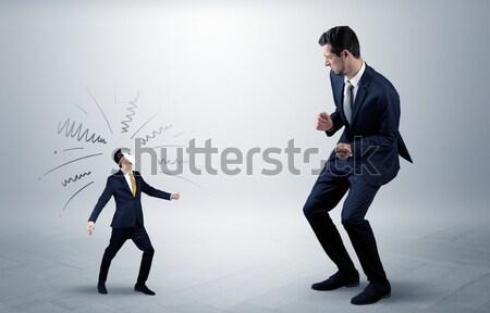 ビジネスマン 隠蔽 武器 白 ハンマー ストックフォト © ra2studio